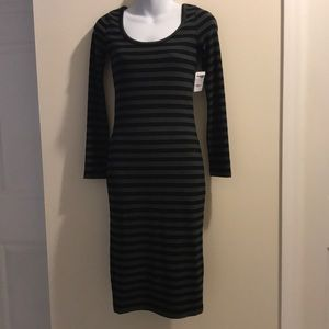 New Charlotte Russe black and gray sweater dress